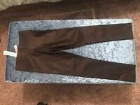 Girls River Island leather look leggings age 5-6 years