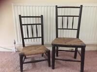 Antique little chairs