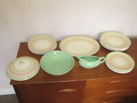Crown Ducal China Dinner service - 6 Sittings - As new