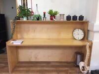 Handcrafted Wood Large Desk