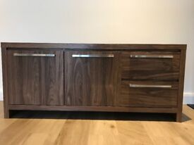 Walnut sideboard (Mode collection by Next) 141cm wide 42 cm depth and 61cm height