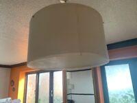 2 Large White Paper & Plastic Lampshades