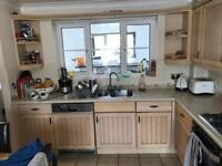 Used large kitchen with units worktops sink tap look