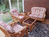 Furniture clearance -Cane lounge suite