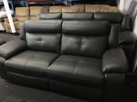 New/Ex Display LazyBoy Electric Grey 2 Seater Recliner Sofa
