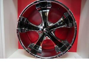 24 INCH NEW RIMS   GM&FORD 6 LUG - SALE ON NOW - DEEP DISH CHROME