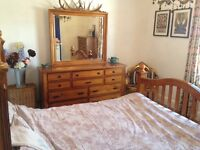 King size bed, dressing table and chest of drawers