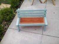 Garden bench planters