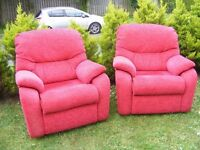 CAN DELIVER - PAIR OF G-PLAN ARMCHAIRS IN GREAT CONDITION - PURCHASED FROM FURNITURE VILLAGE