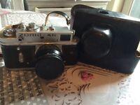Vintage zorki 4K camera with Jupiter 8 lens