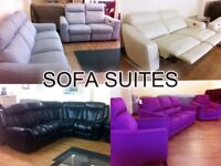 Top Brand SOFA SUITES FOR SALE - (Electric/Manual Recliners) Fabric or Leather + FREE LOCAL DELIVERY