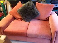 Two seater setee with loose back cushions