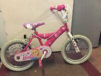 Pink Barbie Bike age 5-7