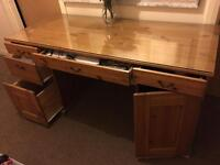Real solid pine with glass on top excellent condition