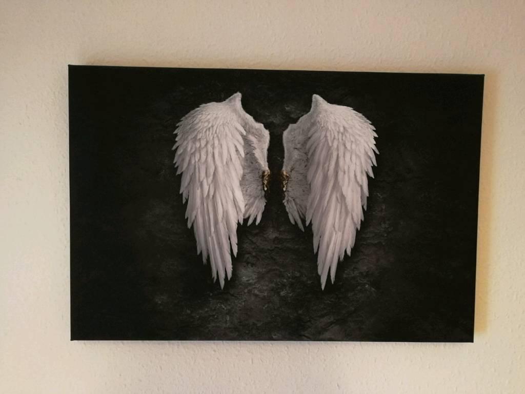 Canvas picture angel wings in swansea gumtree canvas picture angel wings jeuxipadfo Image collections