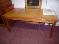 Vintage 1970's Games Table with conpendium of games