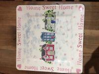 Eden Pottery home sweet home platter