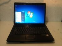 Black hp laptop / BRAND NEW BATTERY/windows 7/office 2013/ram4gb /grab a bargain