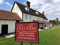 Part time housekeeper required for the Old Ram Tivetshall - immediate start!