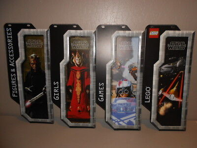 Star Wars 1998 The Phantom Menace Retail Store Signs Unused Lego   Darth Maul