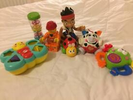 A bundle of baby and toddler toys