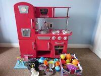 Kidkraft wooden toy kitchen and accessories