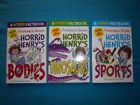 Horrid Henry Factbooks x 3 IP1