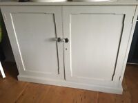 Painted cupboard antique pine