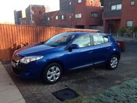 59 plate Renault Megane for sale - low mileage 55,116. MOT till July 2017. £30 road tax per year.