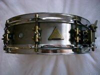 ABB Custom seamed stainless steel snare drum- hand-made - London - '80s Raniero Abbaticola