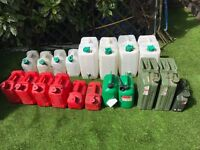 large quantity of heavy duty containers, ideal for water and liquid storage