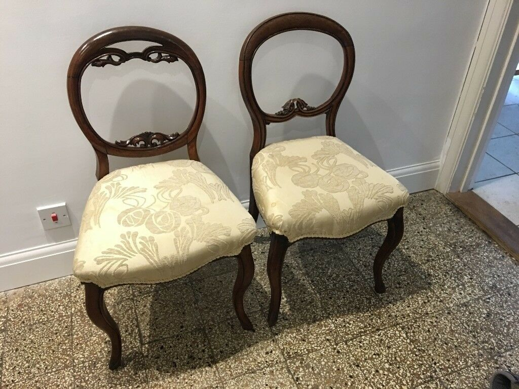 2 x refurbished antique chairs. VGC. Collection from Farnborough Hants - 2 X Refurbished Antique Chairs. VGC. Collection From Farnborough