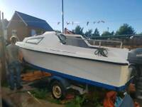 Boat for sale with outboard and trailer