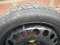 Spare wheel off a Vauxhall Astra