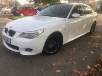 L@@K.. 520D MSPORT AUTO WHITE BLACK ROOF AND WHEELS BLACK LEATHER MOT FSH PART EX WELCOME WITH CASH