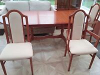 Dining room table and 6 chairs and matching unit