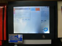 GREY & WHITE Compact EPOS Till System with MSR Reader, Customer Display, Cash Drawer & Software