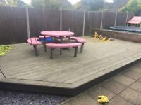 22x14ft decking with built in 6x6ft sandpit