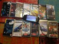 PsP With games dvds and charger