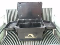 STEADE FAST TACKLE BOX AND SEAT