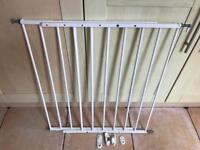 Stair gate white metal adjustable
