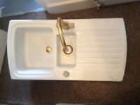 Vintage retro Armatage Ceramic Kitchen Sink with Mixer tap in London! £75