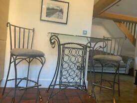 Tall dining table and chairs - free if collected