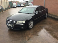 Audi A8 QUATTRO. 2005. 3.0 V6 TURBO AUTO BLACK 5 DOOR LEATHER