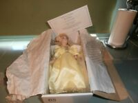Story book collection Boxed 12inch Cinderella porcelain doll with stand