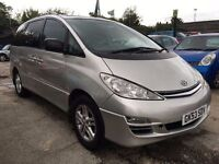 Toyota Previa 2.0 D-4D T Spirit 5dr (7 seat)£2,995 p/x welcome FREE WARRANTY, LONG MOT