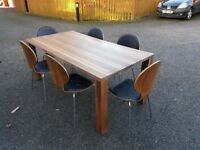 Ikea Djursta 180cm Dining Table & 6 Bentwood Leather/Chrome Chairs FREE DELIVERY 268