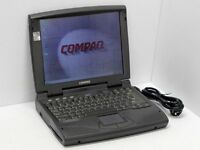 Antique LapTop for sale, Compaq Armada 1590DT, 2GB hard disk, 16 MB ram, Windows 95