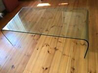 John Lewis Greenapple Glass Arc coffee Table - great condition