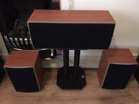 Wharfedale Diamond 8.1 Main Stereo Speakers + Wharfedale Diamond 8.0 Central Speaker